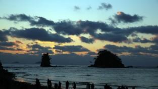 [포토] 꽃지해수욕장의 '일몰'과 KOREA FLOWER PARK '빛 축제'